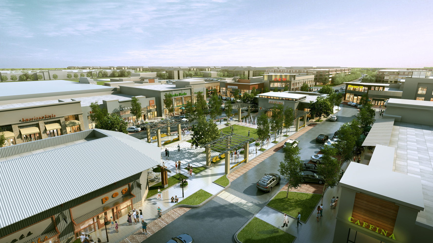 Alliance Town Center, developed by Hillwood and Trademark Property Company, offers shopping, dining and entertainment within north Fort Worth.